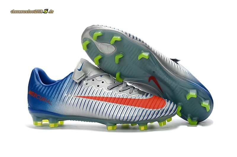 Chaussure Foot Promo - Chaussure Nike Mercurical Victory VI TPU FG Bleu Blanc Rouge - Chaussures de Foot