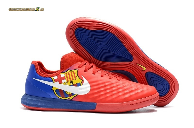 Offres Chaussure Nike MagistaX Finale II IC Rouge Bleu - Chaussures de Foot