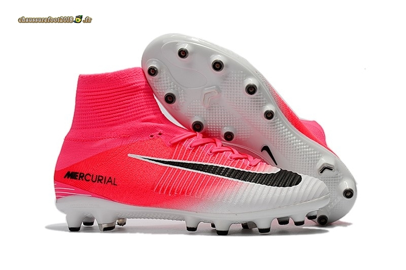 Offres Chaussure Nike Mercurial Superfly V AG Blanc Rose En Solde