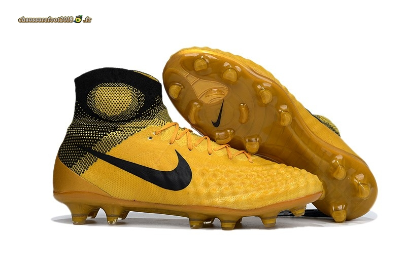 Site Crampons Foot - Chaussure Nike Magista obra II FG Or Pas Cher
