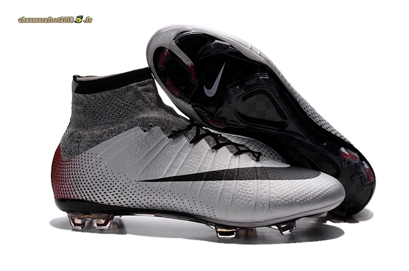 Trouver - Chaussure Nike Mercurial Superfly IV FG Blanc Gris En Solde