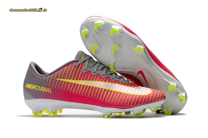 Vente Chaussure Nike Mercurical Victory VI TPU FG Rose Jaune - Chaussures de Foot