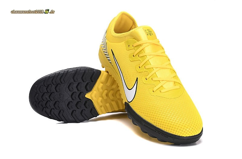 Chaussure Foot Promo - Chaussure Nike Mercurial VaporX VII Pro TF Jaune En Solde