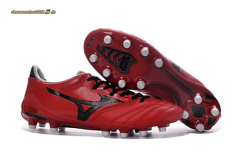 Personnaliser Chaussure Mizuno Morelia Neo II FG Rouge - Chaussures de Foot