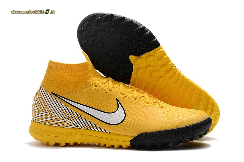 size 40 a2e85 6aa58 Chaussures de Foot - Chaussure Nike Mercurial Superfly VI 360 Elite Neymar  TF Jaune - Chaussures