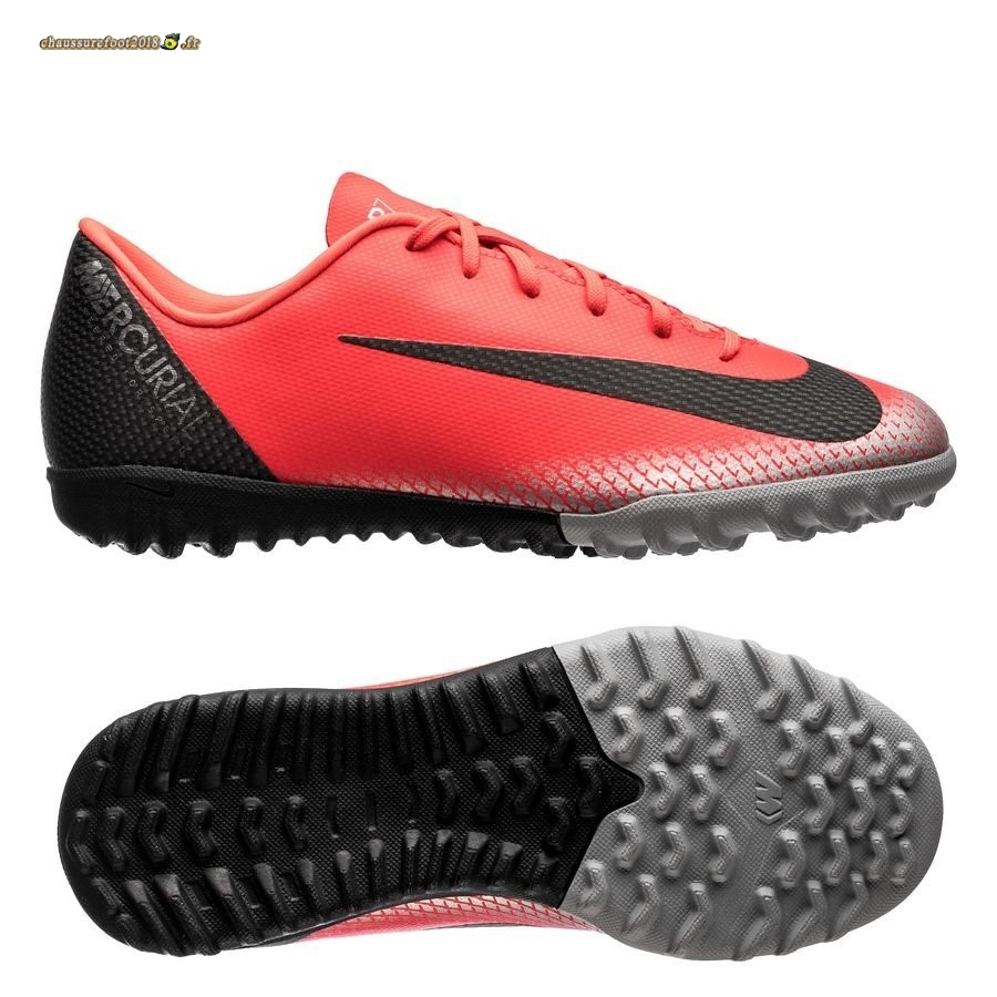 Hot Chaussure Nike Mercurial VaporX 12 Academy CR7 TF Rouge En Solde