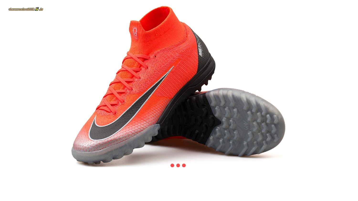 "Nouvelle Chaussure Nike Mercurial Superfly 6 Elite CR7 TF ""Built on Dreams"" Rouge En Ligne"