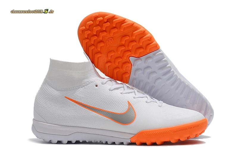 Trouver - Chaussure Nike SuperflyX 6 Elite TF Blanc Orange - Chaussures de Foot