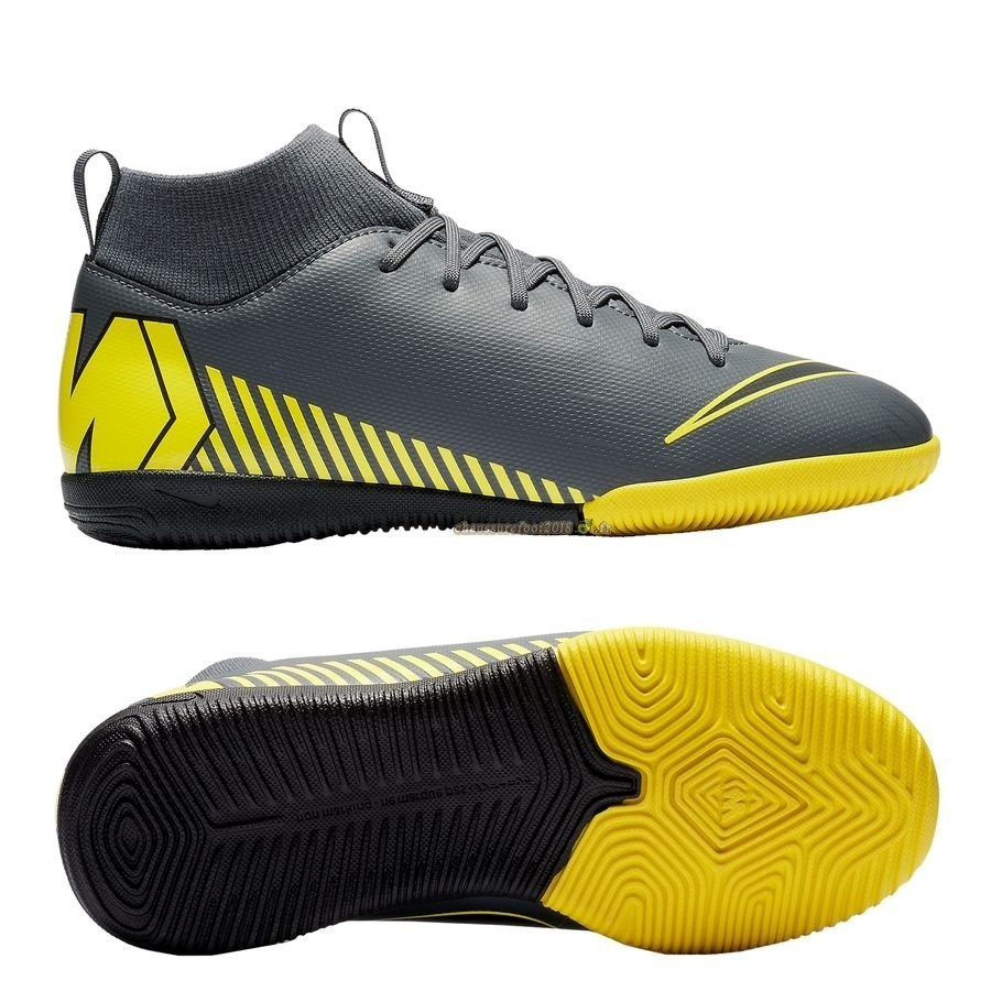 the best attitude 4226b 49809 Chaussures de Foot - Chaussure Nike Mercurial Superfly 6 Academy Enfant IC  Game Over Gris Jaune