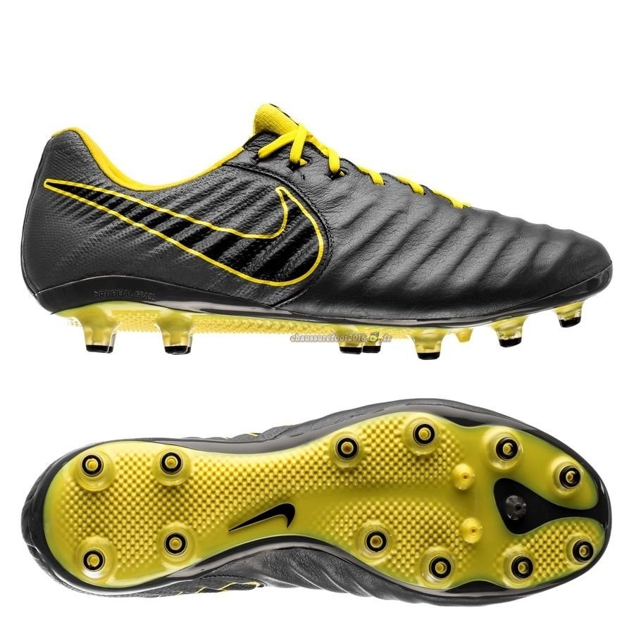 Hot Chaussure Nike Tiempo Legend VII Elite AG PRO Game Over Gris Jaune Chaussure de Foot Salle