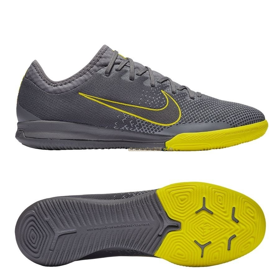 Nouvelle Chaussure Nike Mercurial Vapor XI Pro IC Game Over Gris Jaune - Chaussures de Foot