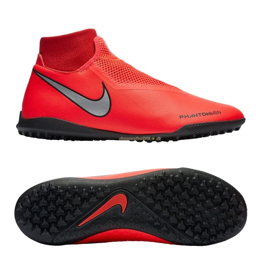 Nouvelle Chaussure Nike Phantom Vision Academy DF TF Game Over Rouge En Ligne