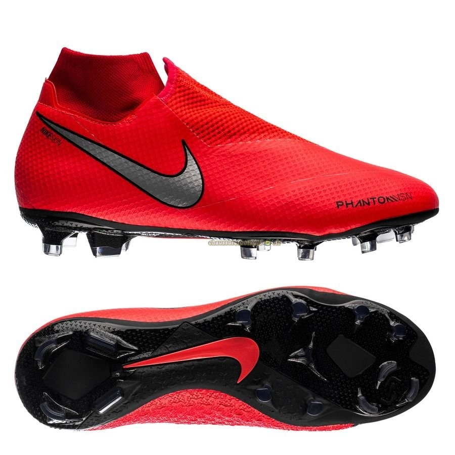 Nouvelle Chaussure Nike Phantom Vision Pro DF FG Game Over Rouge - Meilleur Chaussures de Foot