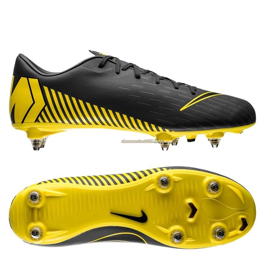 Offres Chaussure Nike Mercurial Vapor XII Academy SG PRO Game Over Gris Jaune Pas Cher