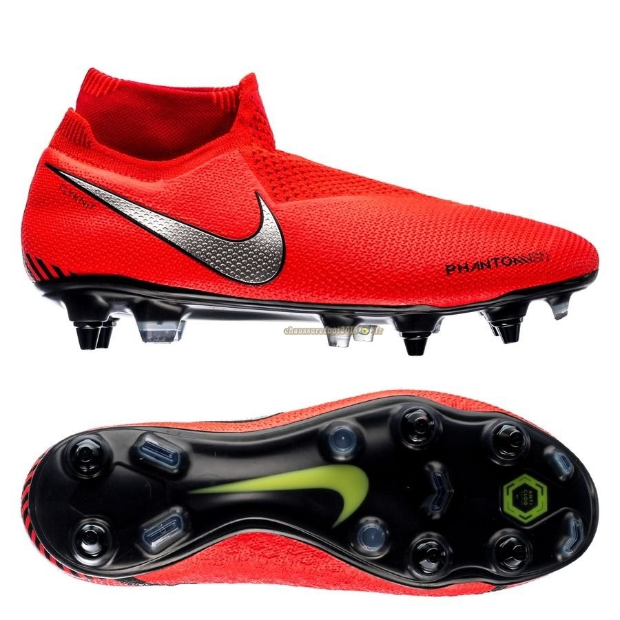 Rechercher Chaussure Nike Phantom Vision Elite DF SG PRO Anti Clog Game Over Rouge - Crampon de Foot