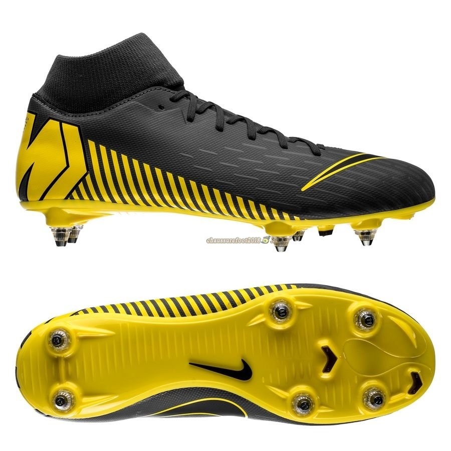 Remise Chaussure Nike Mercurial Superfly 6 Academy SG PRO Game Over Noir Jaune En Ligne