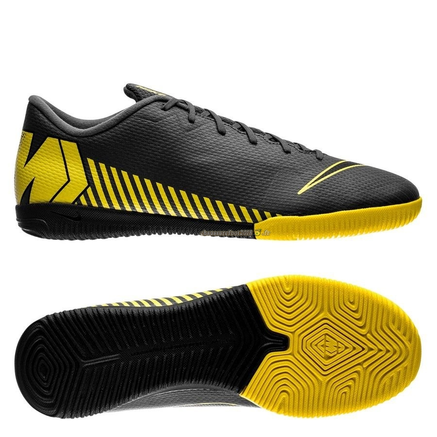 Remise Chaussure Nike Mercurial Vapor XII Academy IC Game Over Noir Jaune En Ligne