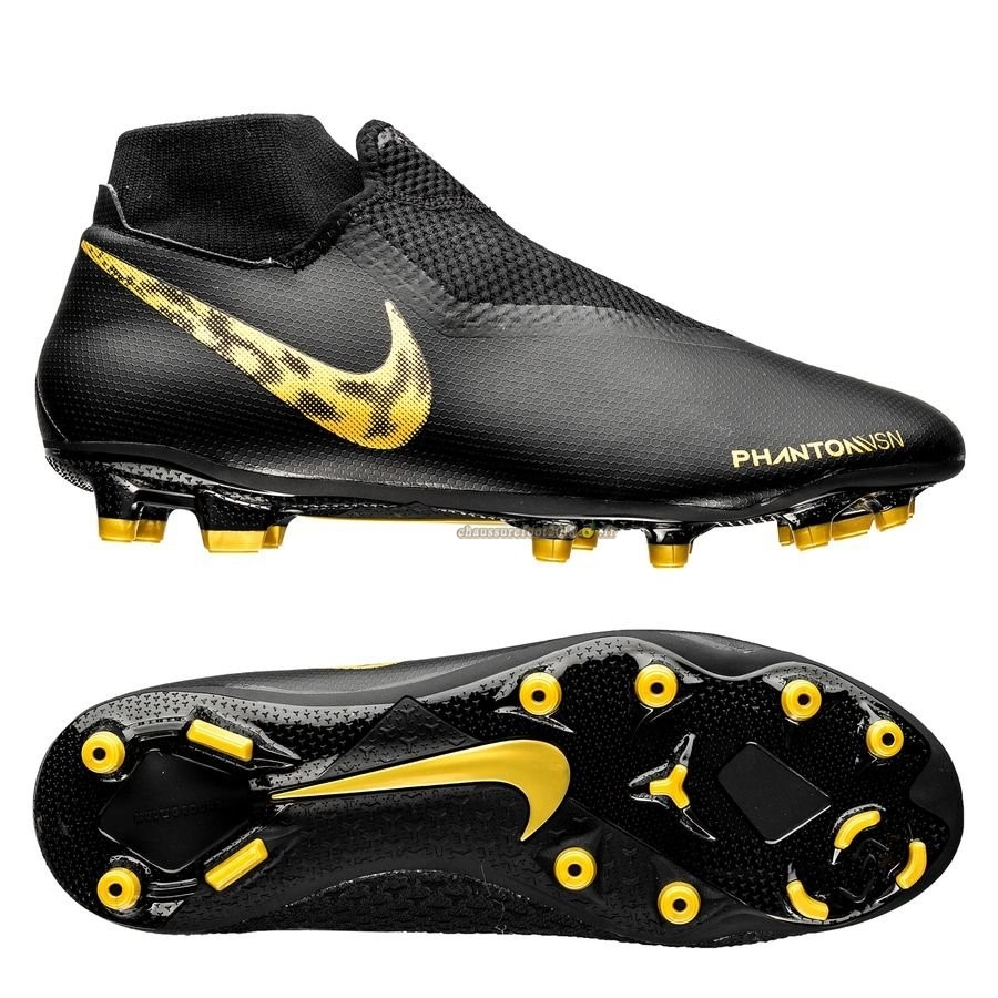 Remise Chaussure Nike Phantom Vision Academy DF MG Black Lux Noir - Crampon de Foot