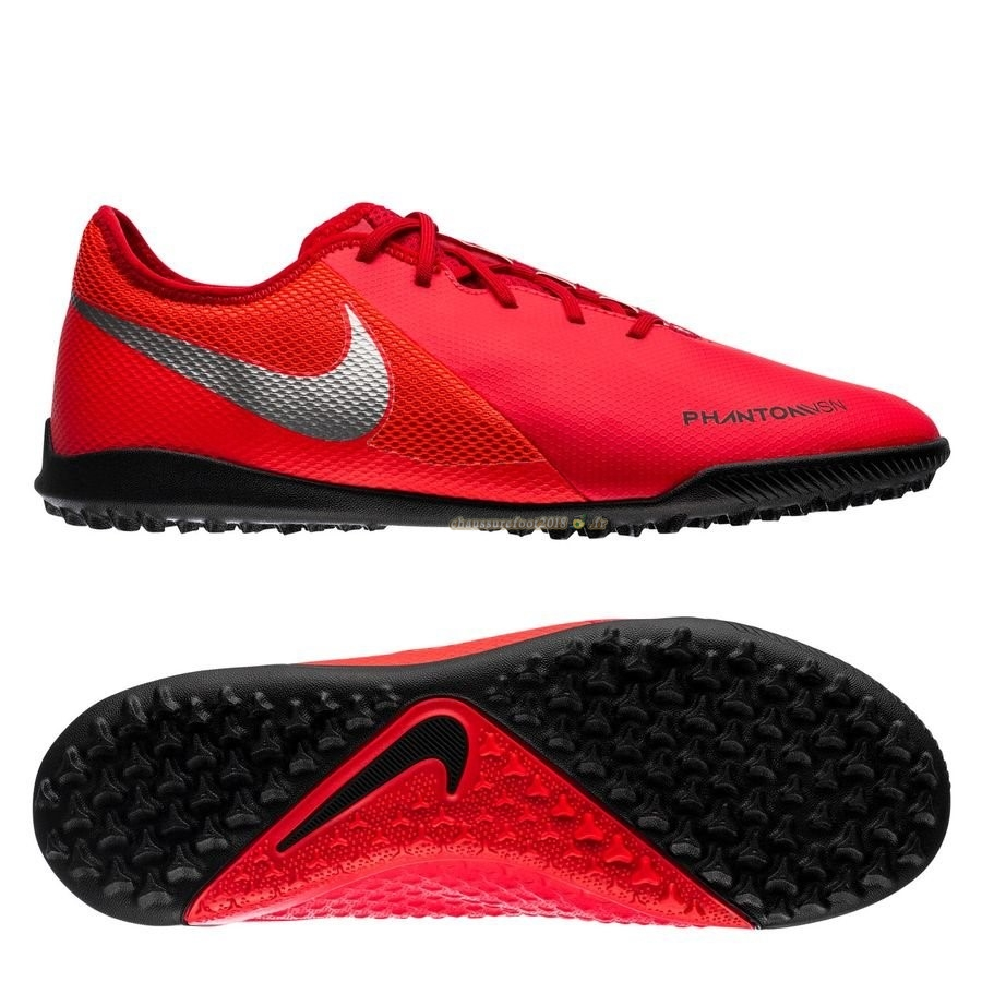 Remise Chaussure Nike Phantom Vision Academy TF Game Over Rouge Noir - Crampon de Foot