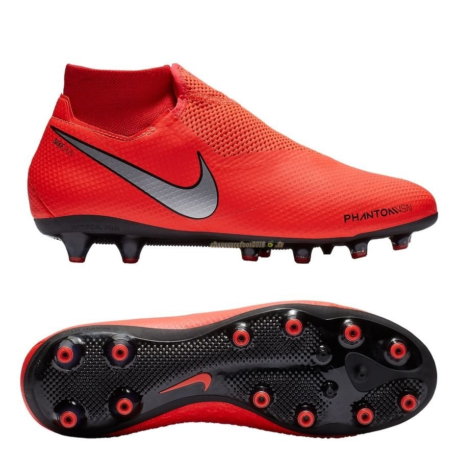 Site Crampons Foot - Chaussure Nike Phantom Vision Pro DF AG PRO Game Ove Rouge - Crampon de Foot