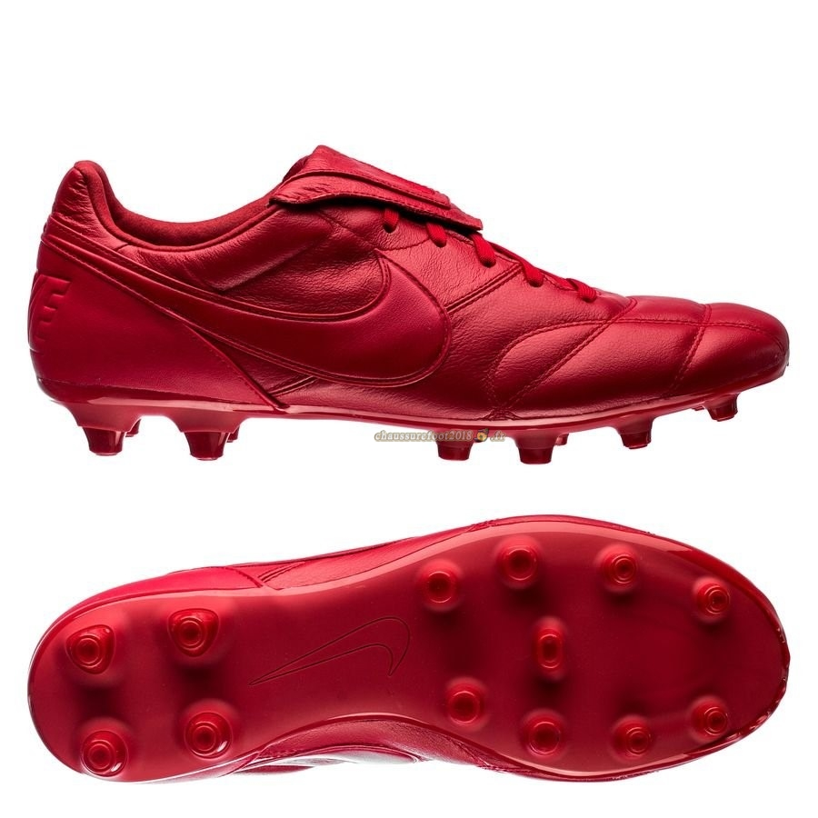 Site Crampons Foot - Chaussure Nike Premier II FG Rouge Pas Cher