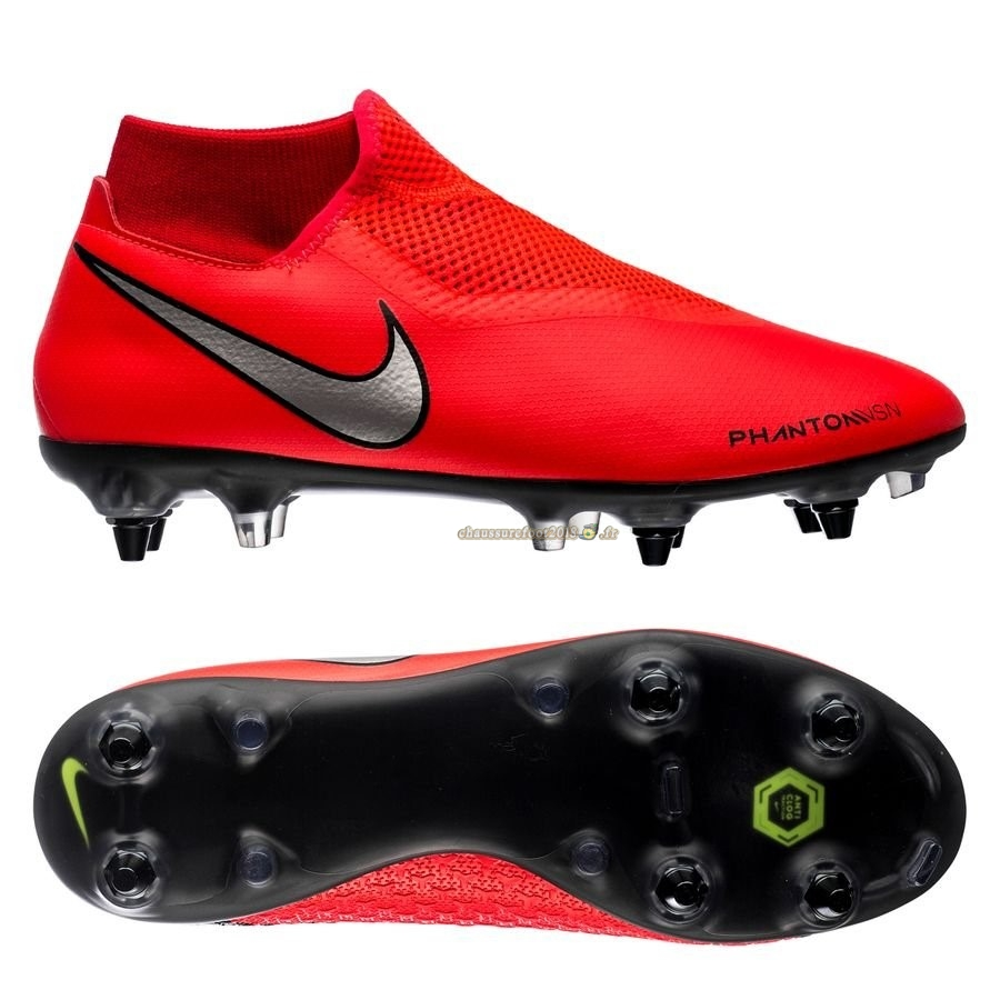 Soldes Chaussure Nike Phantom Vision Academy DF SG PRO Game Over Rouge - Crampon de Foot