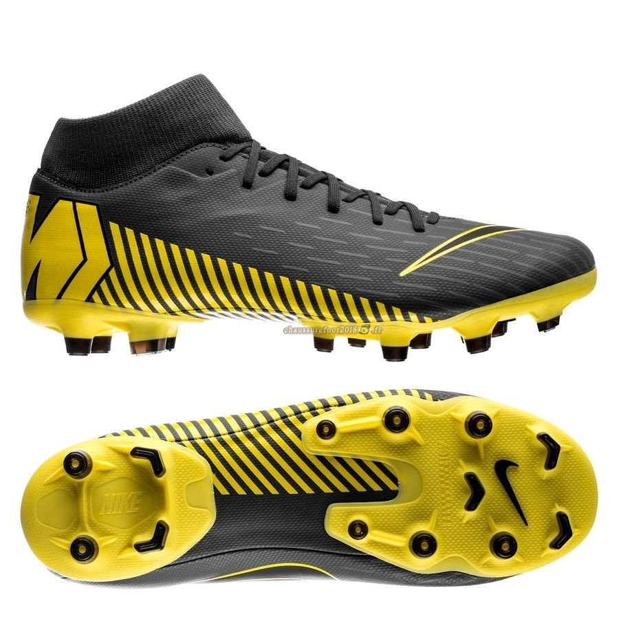 Trouver - Chaussure Nike Mercurial Superfly 6 Academy MG Game Over Noir Jaune En Solde