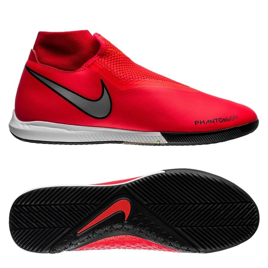 Vente Chaussure Nike Phantom Vision Academy DF IC Game Over Rouge Noir - Meilleur Chaussures de Foot