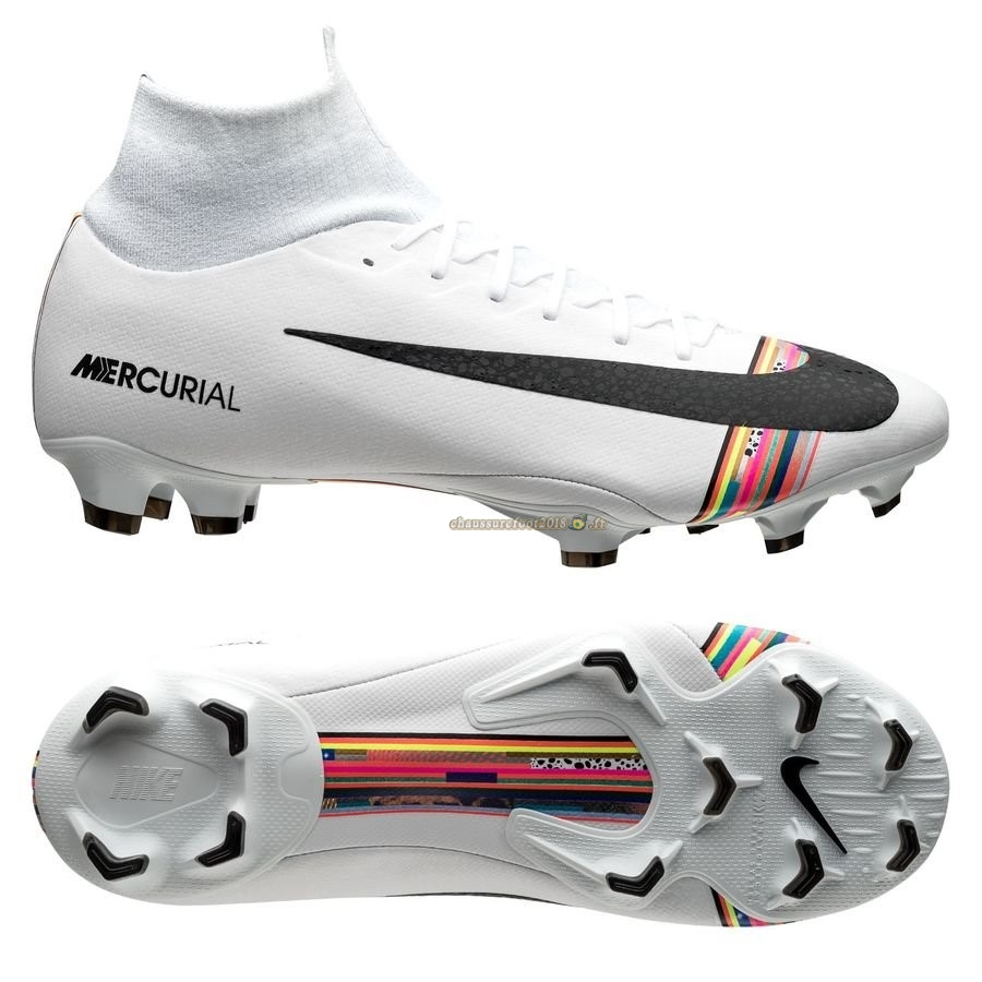 Acheter Chaussure Nike Mercurial Superfly 6 Pro FG LVL UP Blanc En Solde