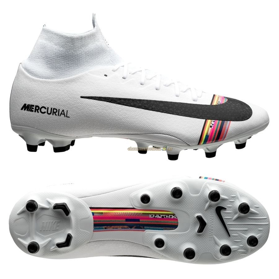 Chaussure Foot Promo - Chaussure Nike Mercurial Superfly 6 Pro AG PRO LVL UP Blanc Pas Cher