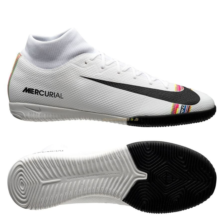 Destockage - Chaussure Nike Mercurial Superfly 6 Academy IC LVL UP Blanc Chaussure de Foot Salle