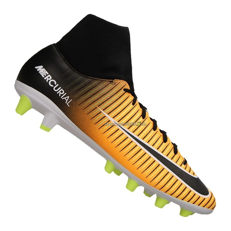 Personnaliser Chaussure Nike Mercurial Victory VI DF AG Pro Jaune Chaussure de Foot Salle