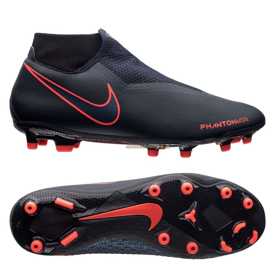 Site Crampons Foot - Chaussure Nike Phantom Vision Academy DF MG Fully Charged Noir En Solde