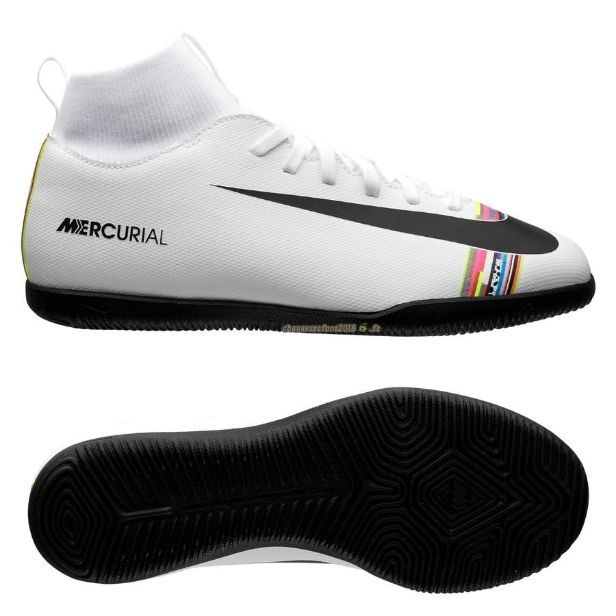 Vente Chaussure Nike Mercurial Superfly 6 Club Enfant IC LVL UP Blanc - Chaussures de Foot