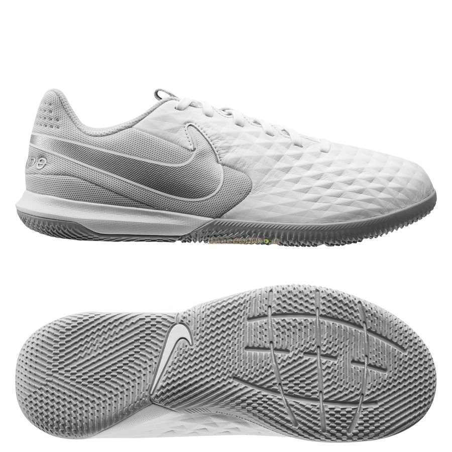 Chaussures de Foot - Chaussure Nike Tiempo Legend 8 Academy IC Blanc - Crampon de Foot