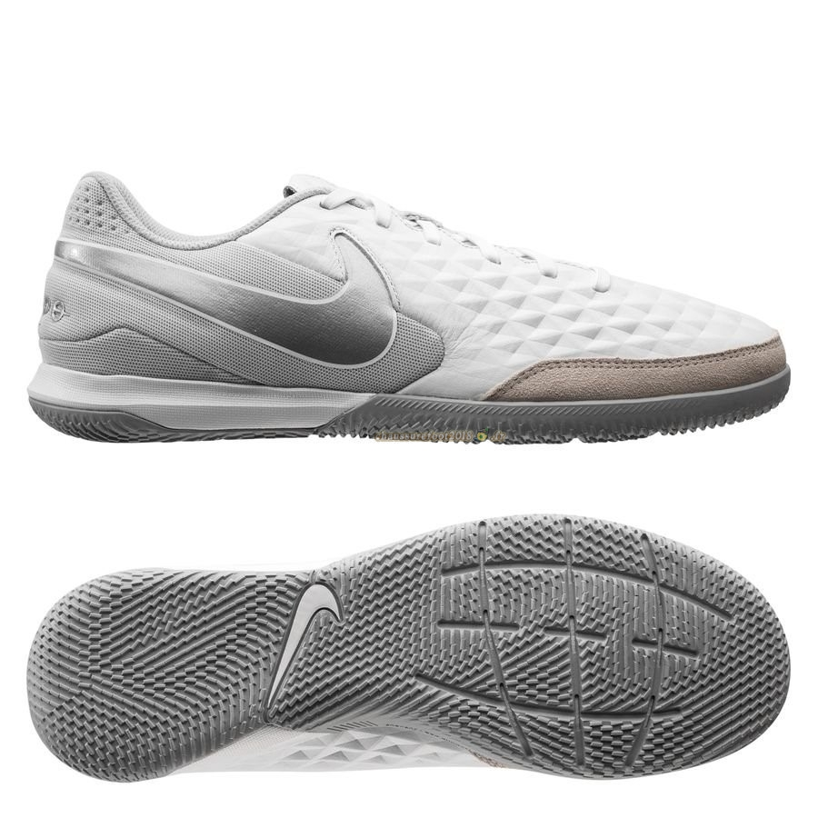 Remise Chaussure Nike Tiempo Legend 8 Academy IC Blanc Brun Chaussure de Foot Salle