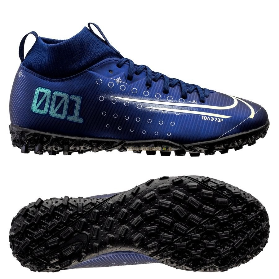 Offres Chaussure Nike Mercurial Superfly 7 Academy Enfant TF Marine - Chaussures de Foot