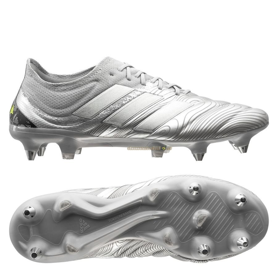 Acheter Chaussure Adidas Copa 20.1 SG Encryption Argent - Chaussures de Foot