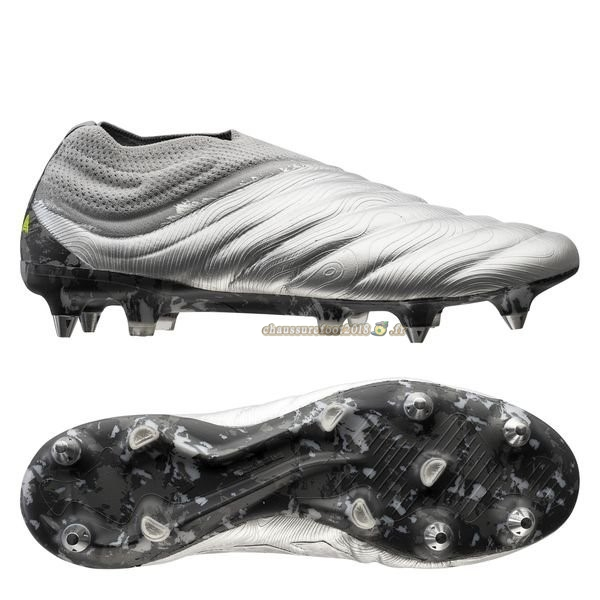 Chaussure Foot Promo - Chaussure Adidas Copa 20+ SG Encryption Argent Chaussure de Foot Salle