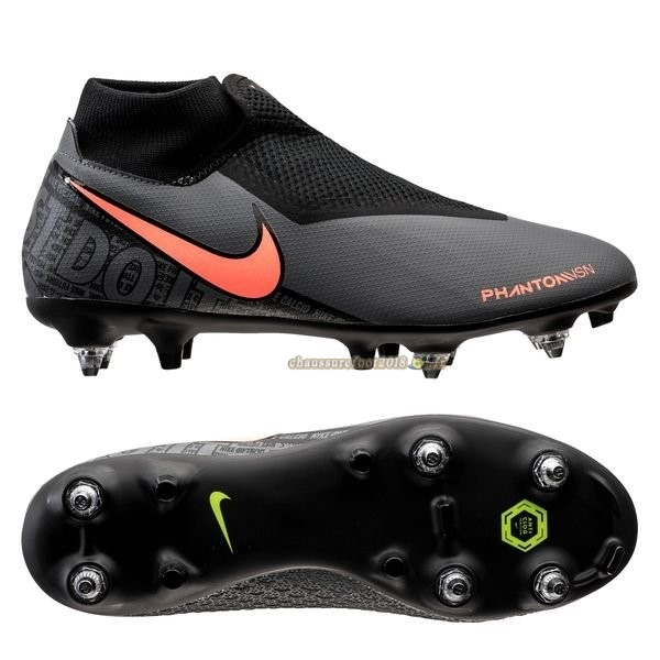 Chaussure Foot Promo - Chaussure Nike Phantom Vision Academy DF SG PRO Anti Clog Fire Noir Pas Cher
