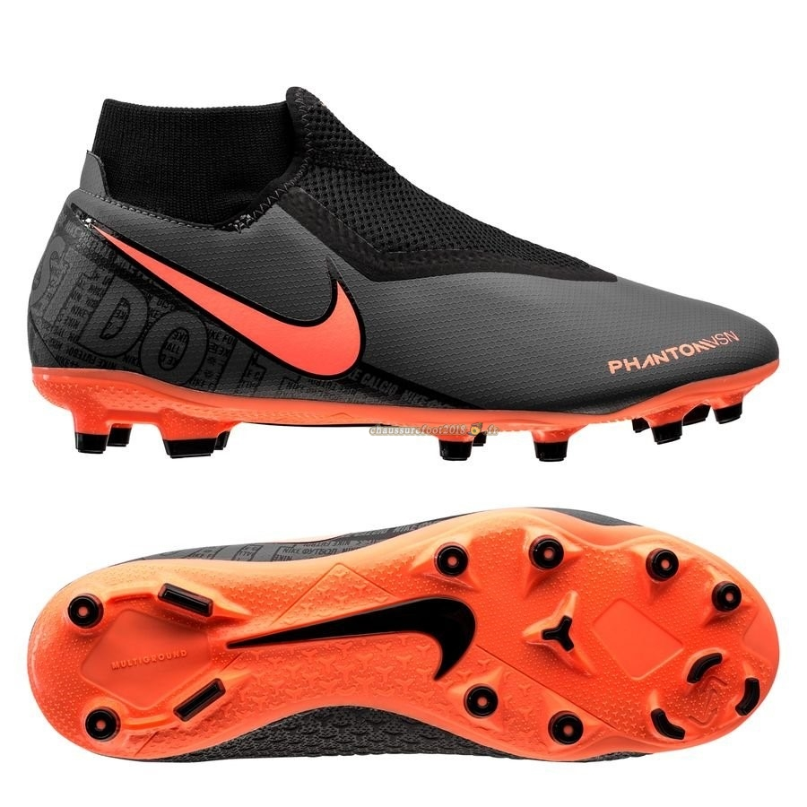 Destockage - Chaussure Nike Phantom Vision Academy DF MG Fire Noir - Crampon de Foot