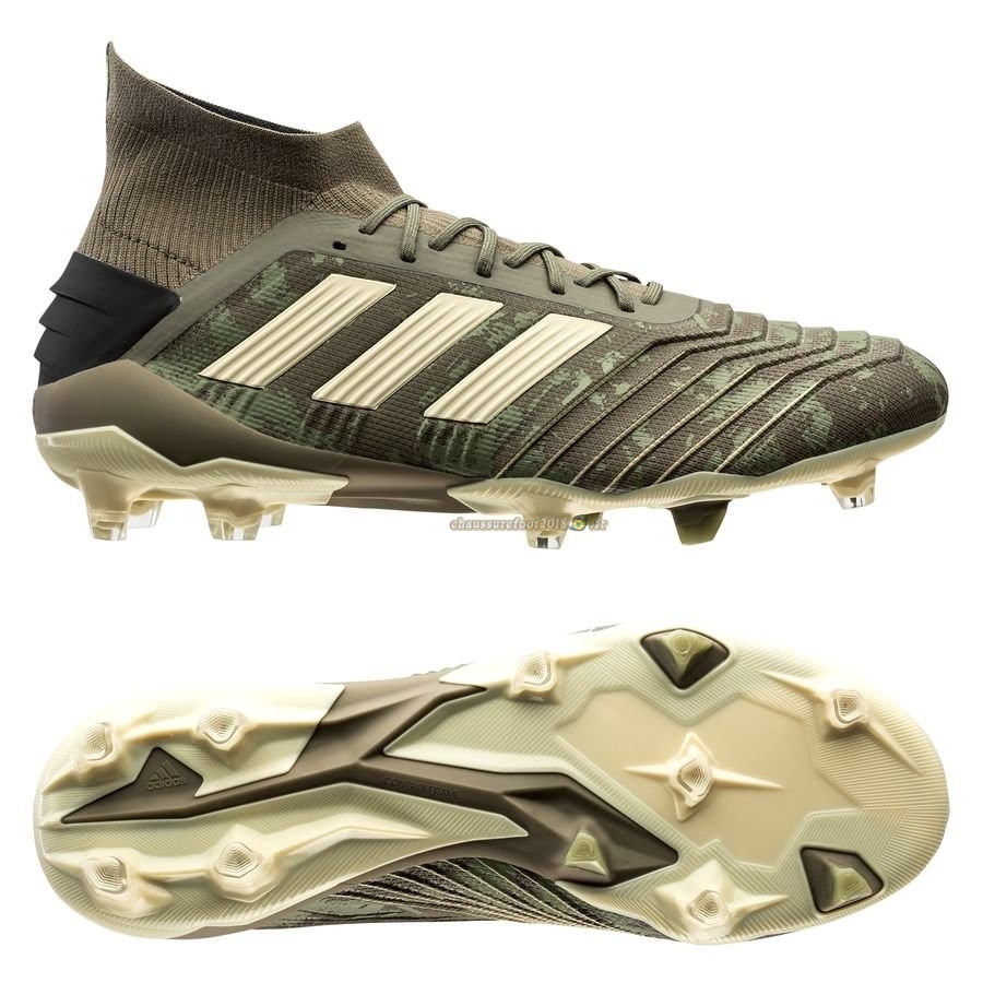 Site Crampons Foot - Chaussure Adidas Predator 19.1 FG/AG Encryption Vert Pas Cher