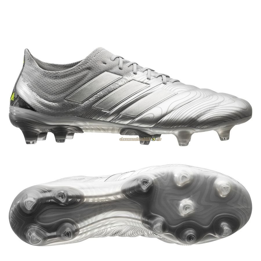Soldes Chaussure Adidas Copa 20.1 FG/AG Encryption Argent Chaussure de Foot Salle