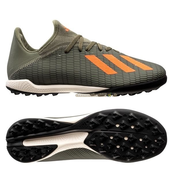 Soldes Chaussure Adidas X 19.3 TF Encryption Vert Pas Cher