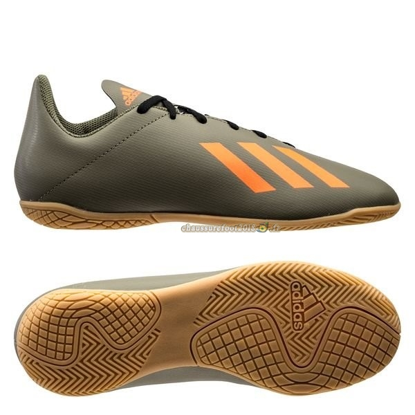 Soldes Chaussure Adidas X 19.4 IN Encryption Brun - Meilleur Chaussures de Foot
