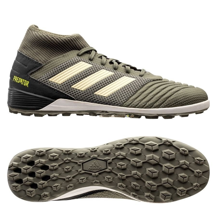 Trouver - Chaussure Adidas Predator 19.3 TF Encryption Vert Chaussure de Foot Salle