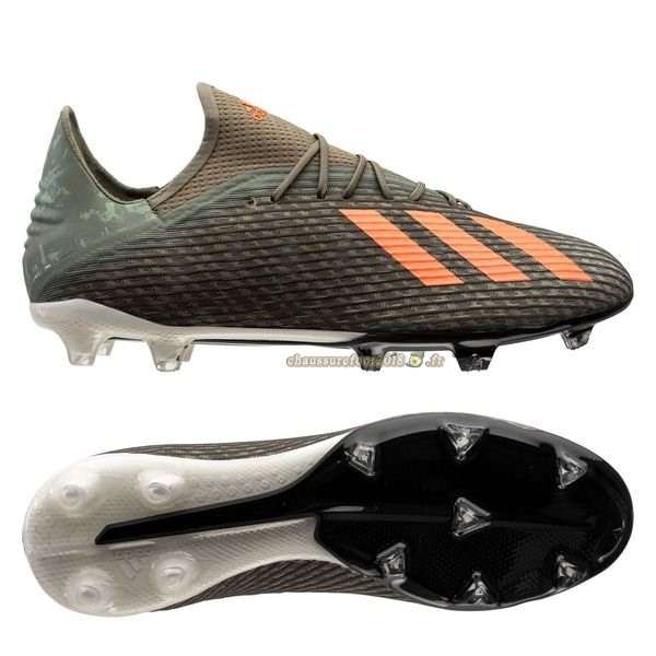 Trouver - Chaussure Adidas X 19.2 FG/AG Encryption Vert Pas Cher