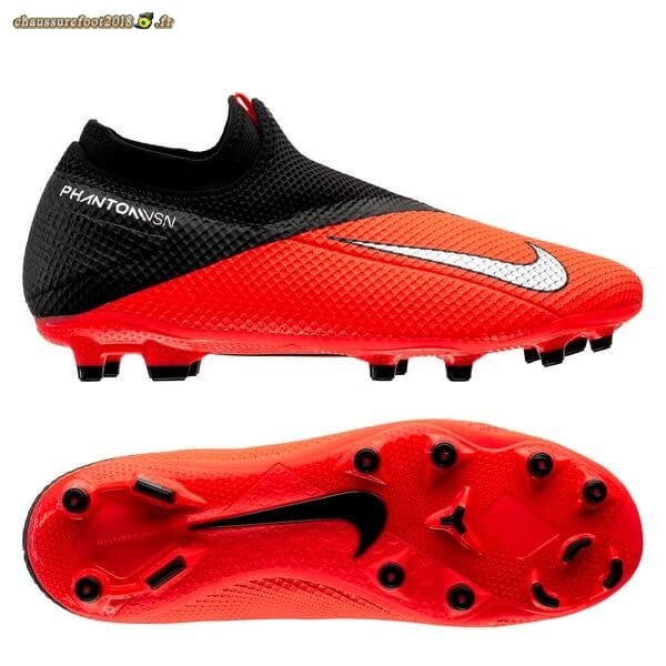 Hot Chaussure Nike Phantom Vision 2 Academy DF MG Cramoisi Argent Noir - Chaussures de Foot
