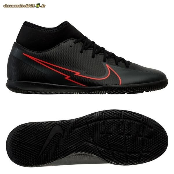 Chaussures de Foot - Chaussure Nike Mercurial Superfly 7 Club IC Noir Rouge - Chaussures de Foot