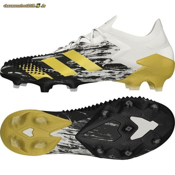 Remise Chaussure Adidas Predator 20.1 Low FG/AG Inflight Blanc Or Noir Chaussure de Foot Salle